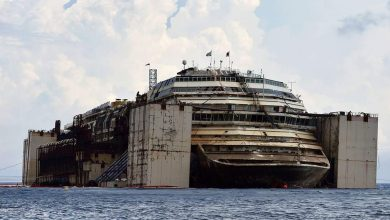 Photo of Costa Concordia. 2 years following the accident