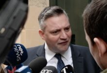 Photo of Konrad Mizzi Interrogated