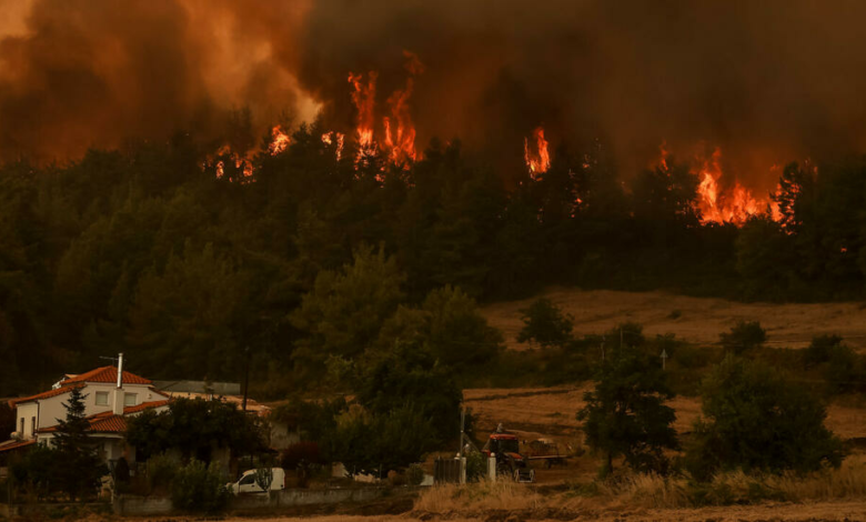 The disastrous wildfires in Greece